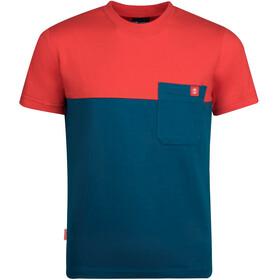 TROLLKIDS Bergen T-Shirt Kids, petrol/czerwony